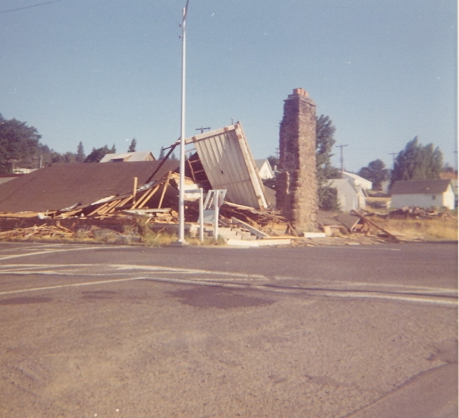 1973 Leeky Teepee Demolished